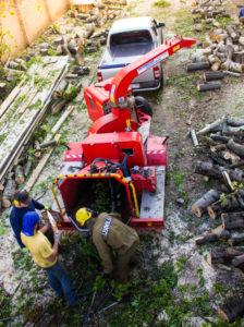 Аренда измельчителя древесины